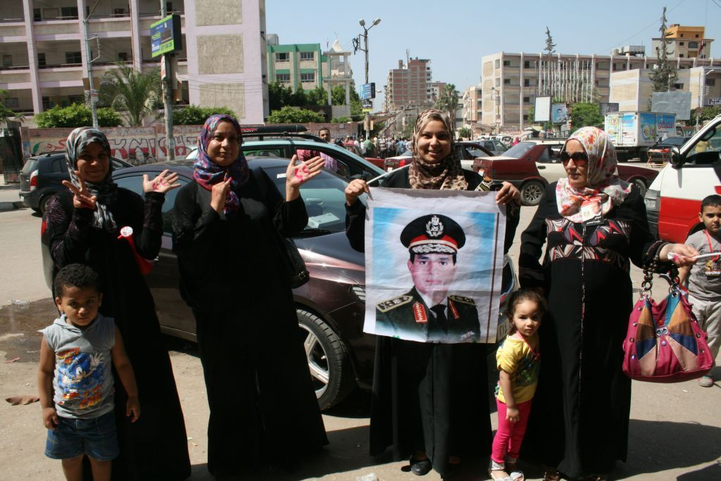 Voters in Mansoura