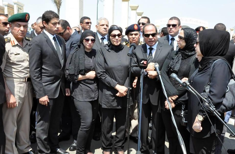 Hesham Barakat's funeral, June 30, 2015