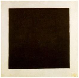 كازمير مالفيتش(1879-1935)، المربع الأسود، 1915، زيت على أتوال، 106*106 سم، المتحف القومي الروسي، بطرسبرج، روسيا، المصدر: ويكي آرت، موسوعة الفن البصري.