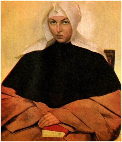 أحمد صبري (1899-1955)، تأملات أو الراهبة، حوالي 1929، المصدر: قطاع الفنون التشكيلية