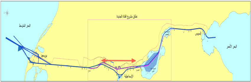 New Suez Canal Diagram