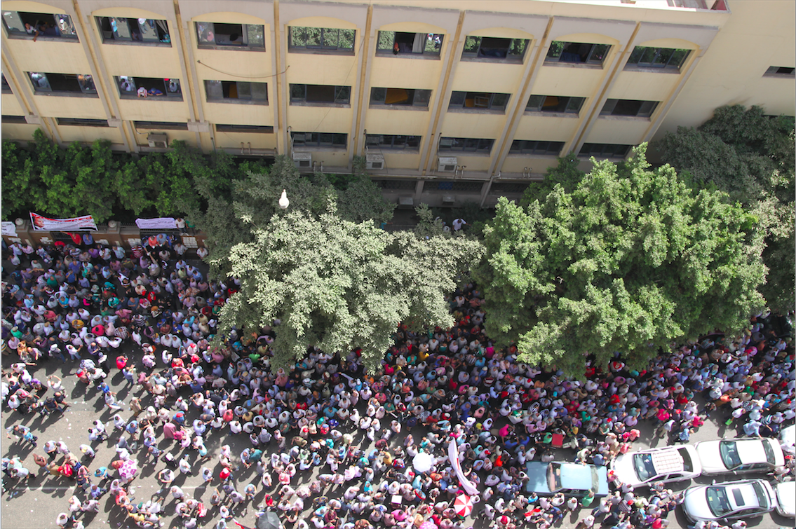 Public sector workers protest at Journalists Syndicate