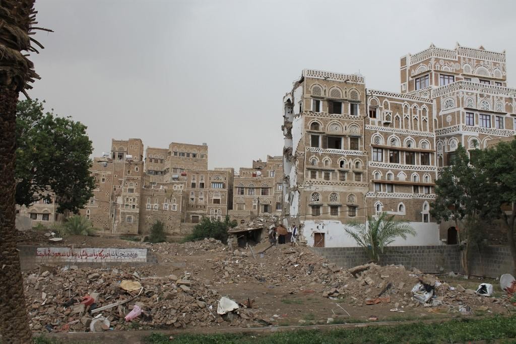 Sanaa Old City bombed.jpg