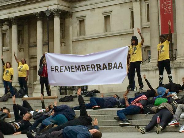 Rabea demonstration Trafalgar Square