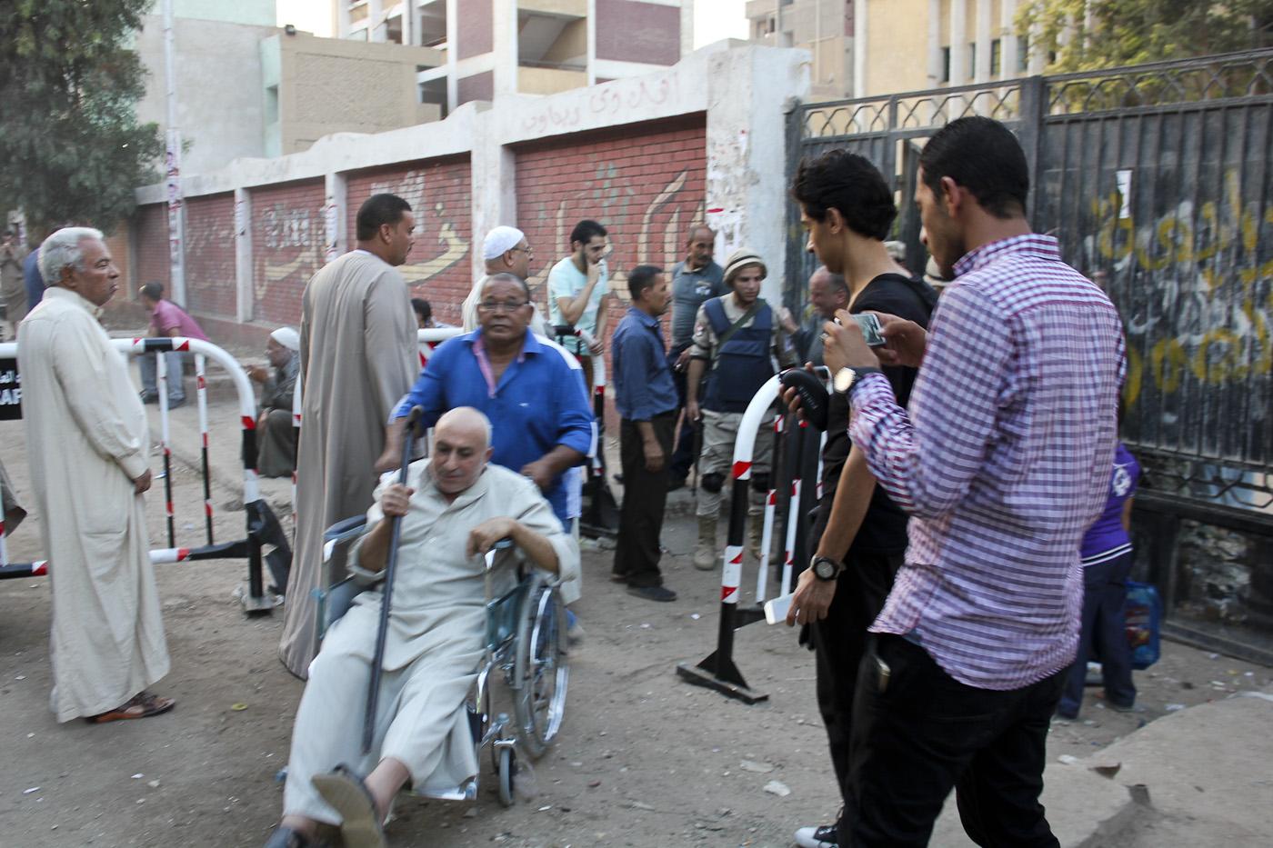 Voting in Badrashin, South Giza on Sunday