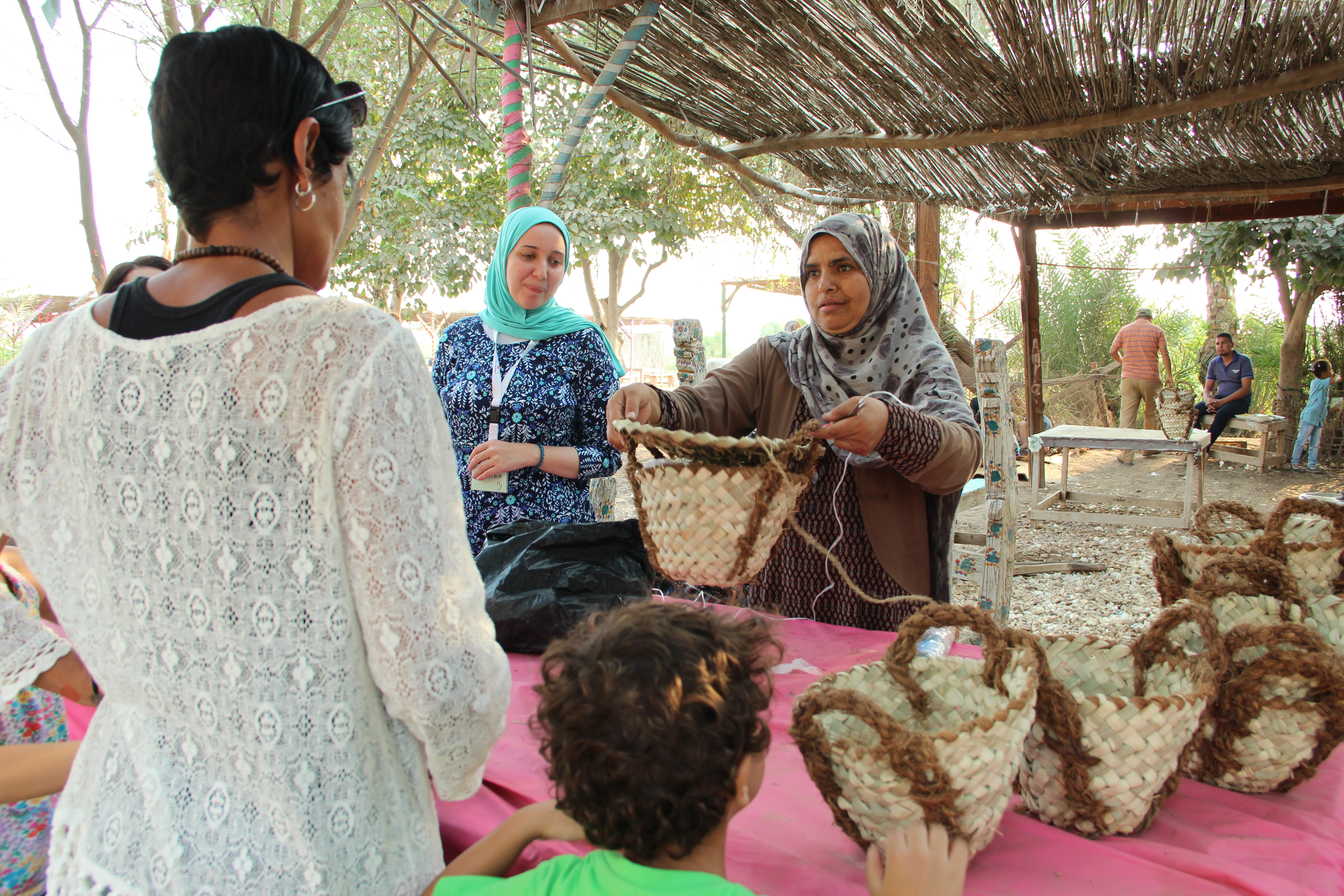 Bag and rope making activities