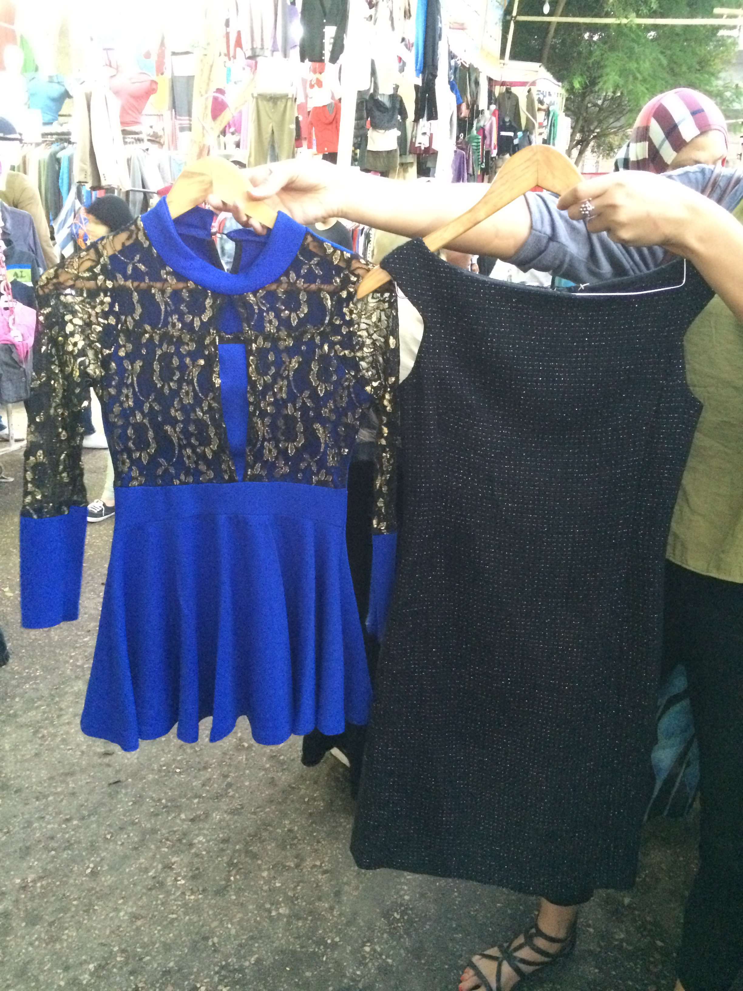 Bully dress, blue outfit