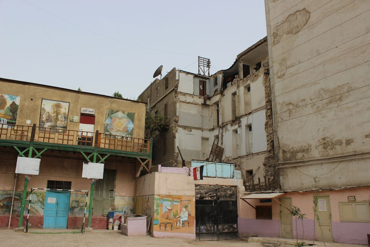 View of Townhouse from the Talaat Harb Technical Industrial School For Girls by Mido Sadek
