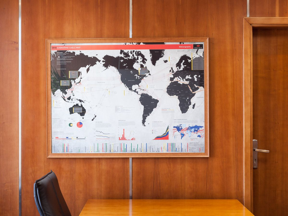 The Internet As A Place Madamasr Cable Television Centre For And Society Map Of All International Submarine Systems That Physically Connect World Is Seen On Wall At Cairo Offices Operator Mena