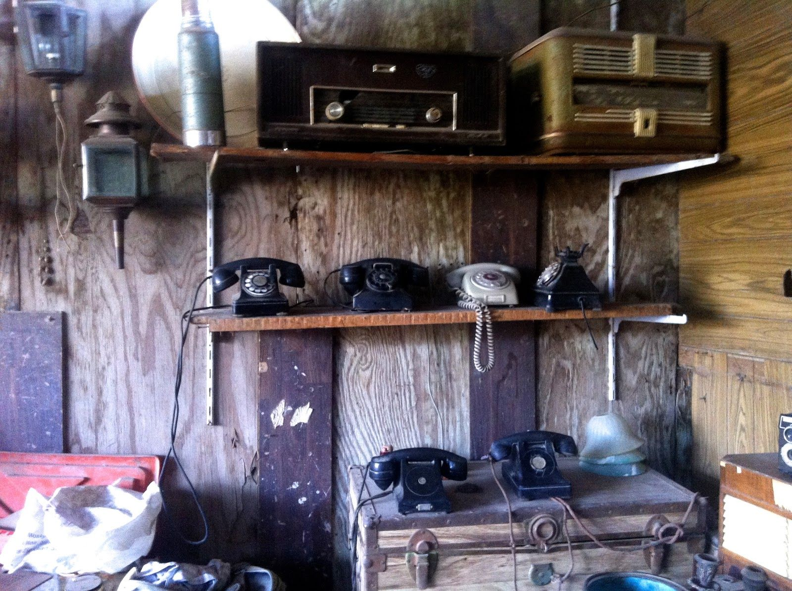 Old telephones and radios