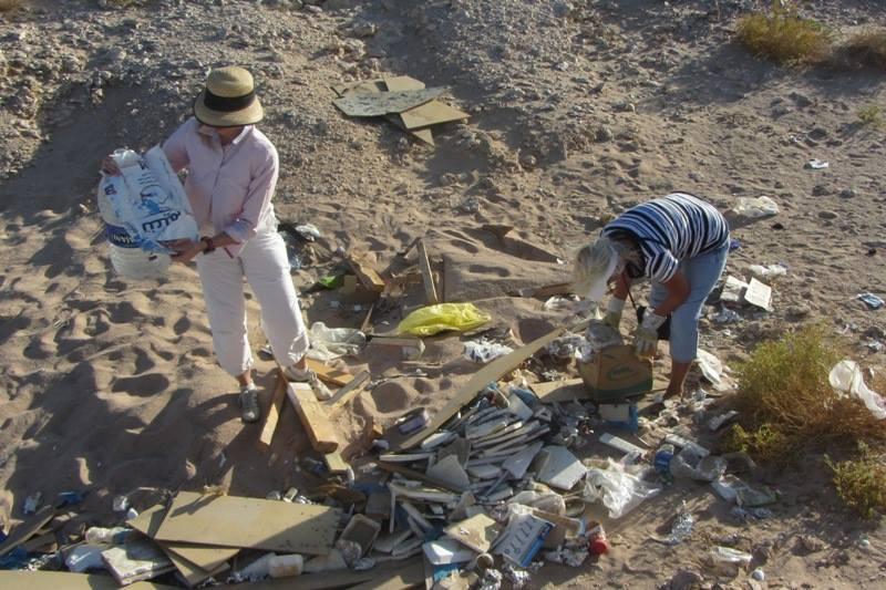 Trash in Ras Mohamed National Park, June 19, 2014
