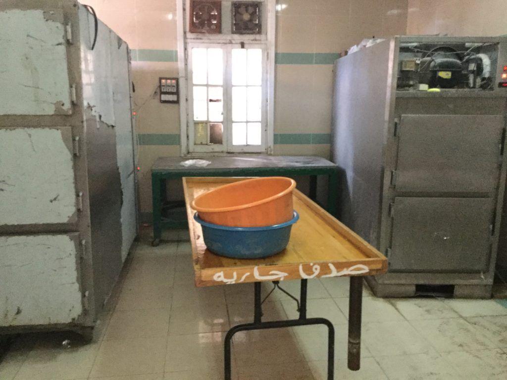 Mortuary refrigerator at Rashid Hospital
