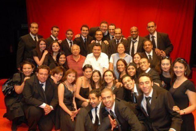 The cast and crew of Qahwa Sada