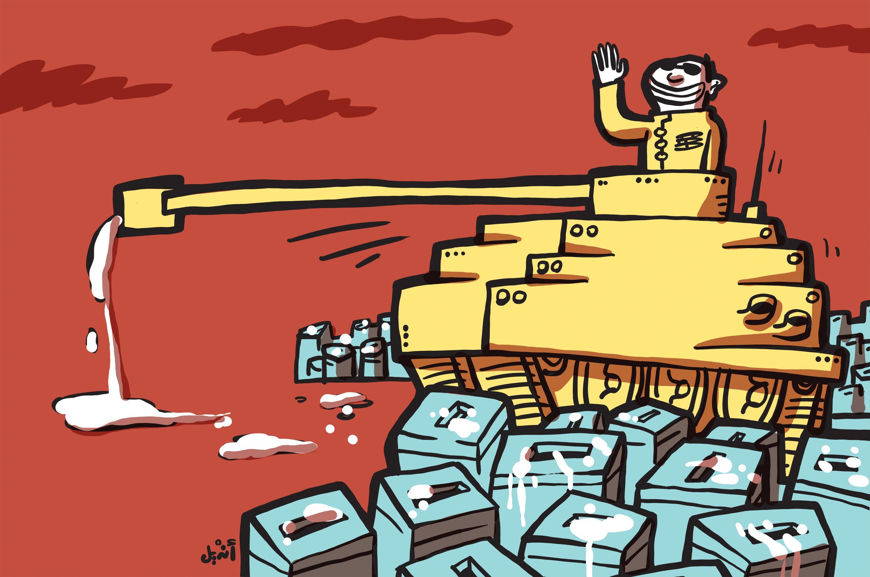 Andeel tank cartoon
