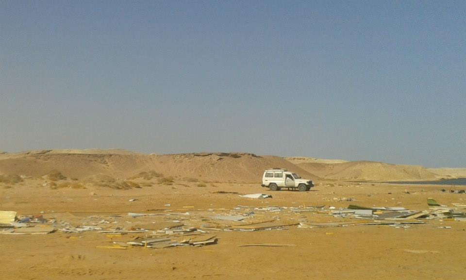 Trash in Ras Mohamed National Park, July 12, 2014