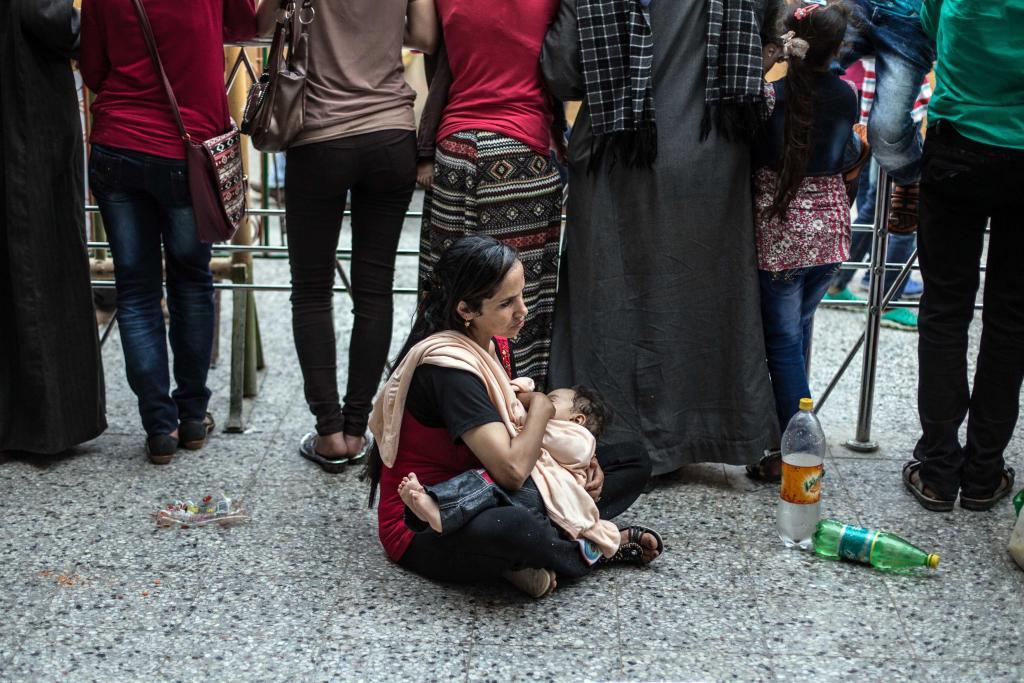 مظاهرة لبن الأطفال المدعم