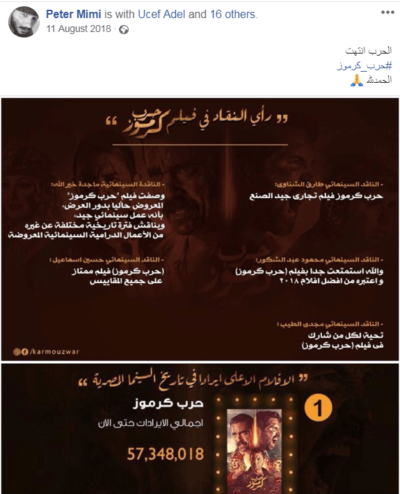What Egyptians watch: A quest for the most-watched films